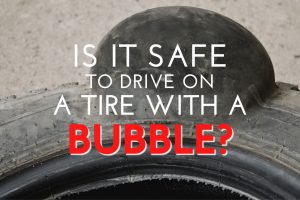 tire with a bubble